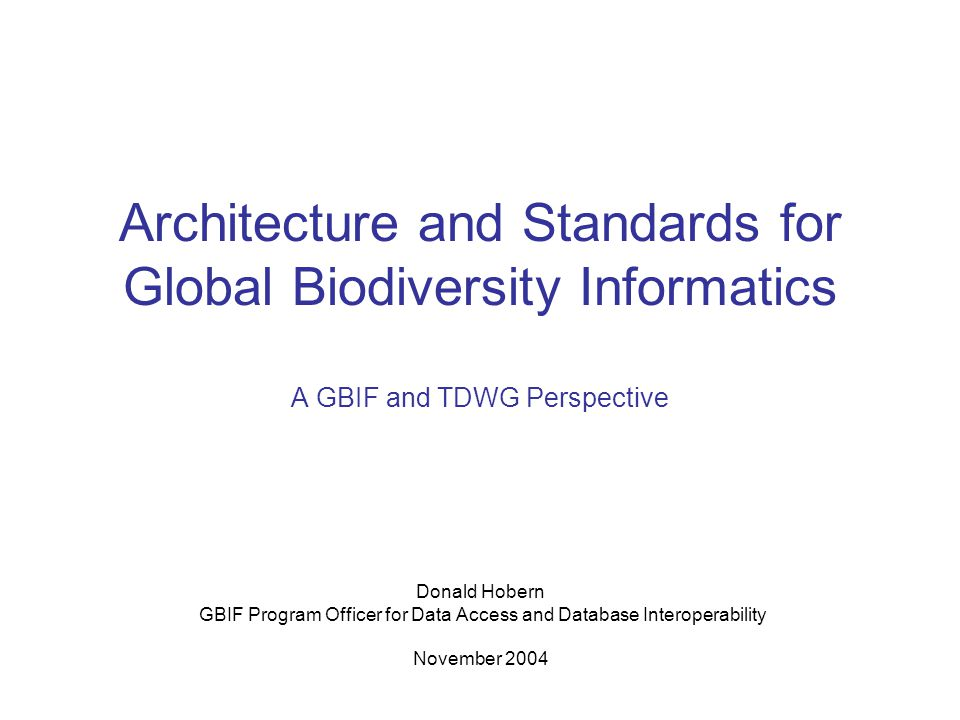 GBIF Program Officer for Data Access and Database Interoperability