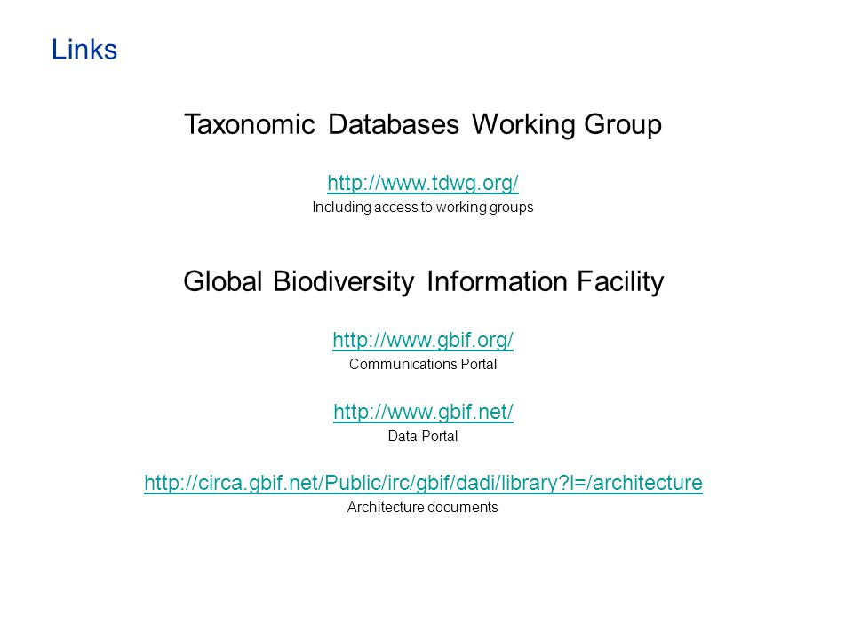 Taxonomic Databases Working Group