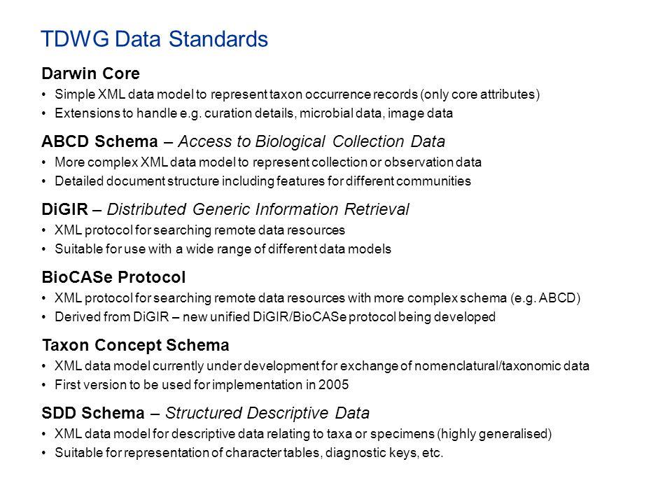 TDWG Data Standards Darwin Core