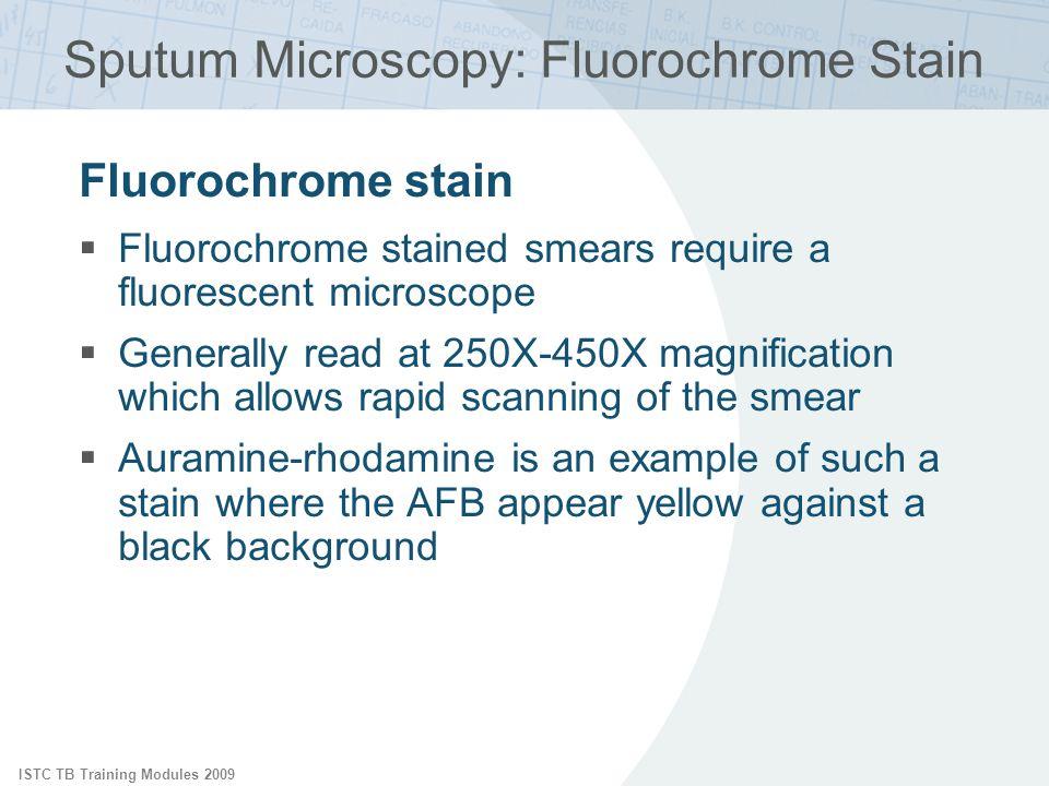 Sputum Microscopy: Fluorochrome Stain