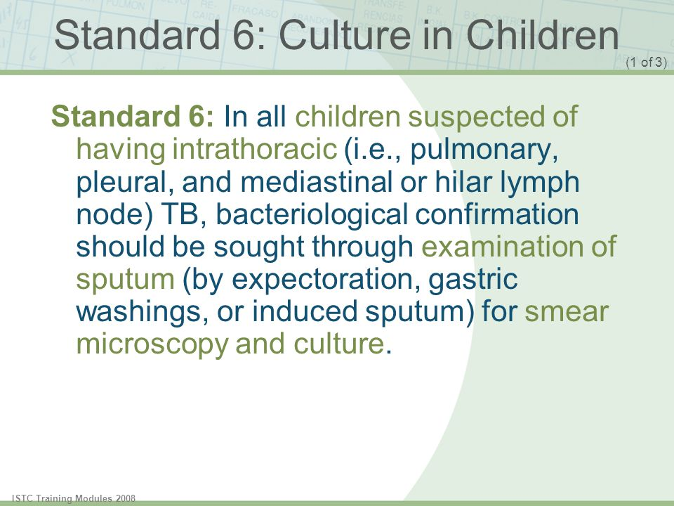 Standard 6: Culture in Children