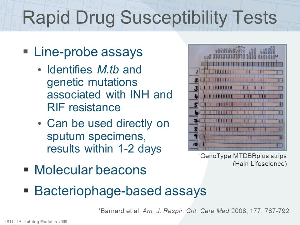 Rapid Drug Susceptibility Tests