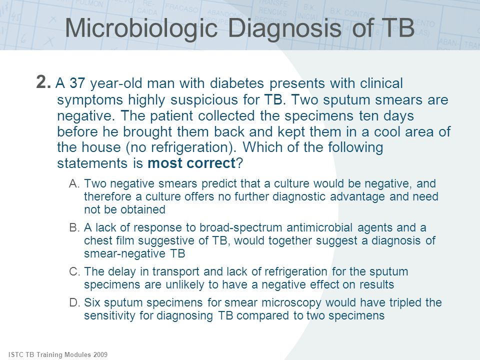 Microbiologic Diagnosis of TB