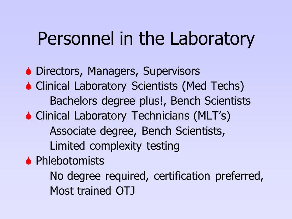 Personnel in the Laboratory