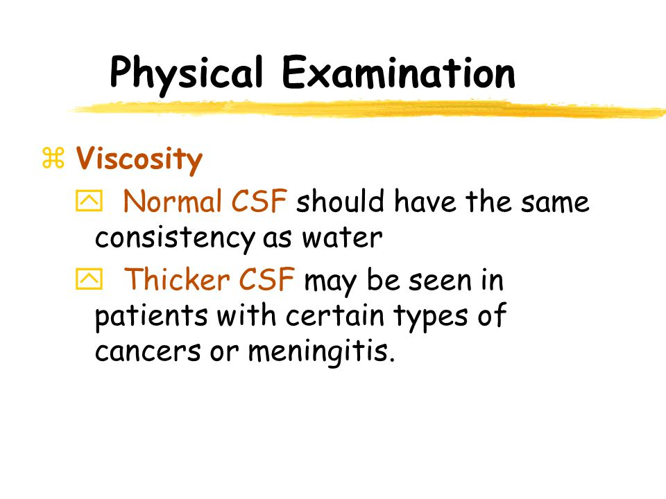 Physical Examination Viscosity