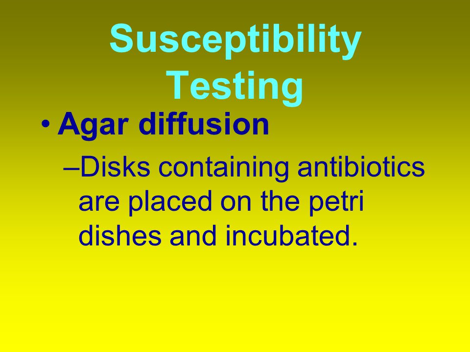 Susceptibility Testing