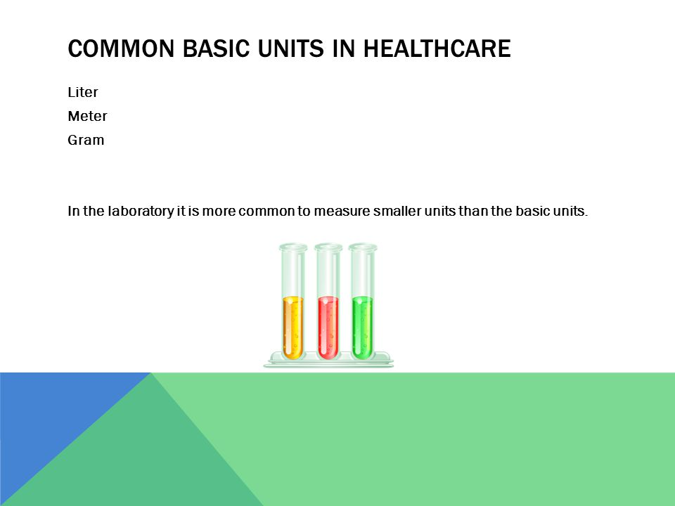 Common Basic Units in Healthcare