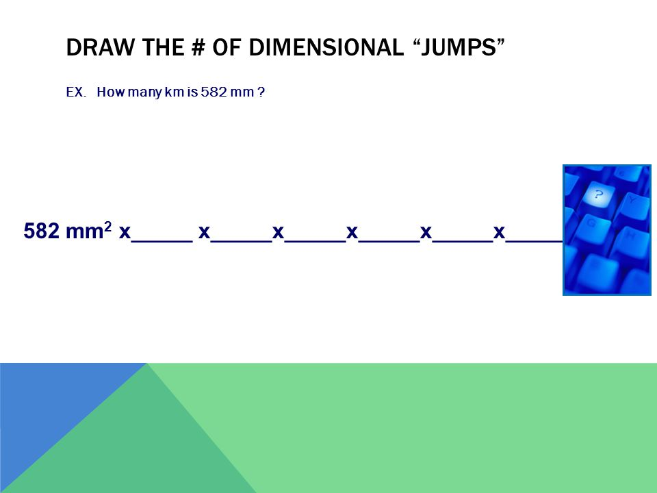 Draw the # of dimensional jumps