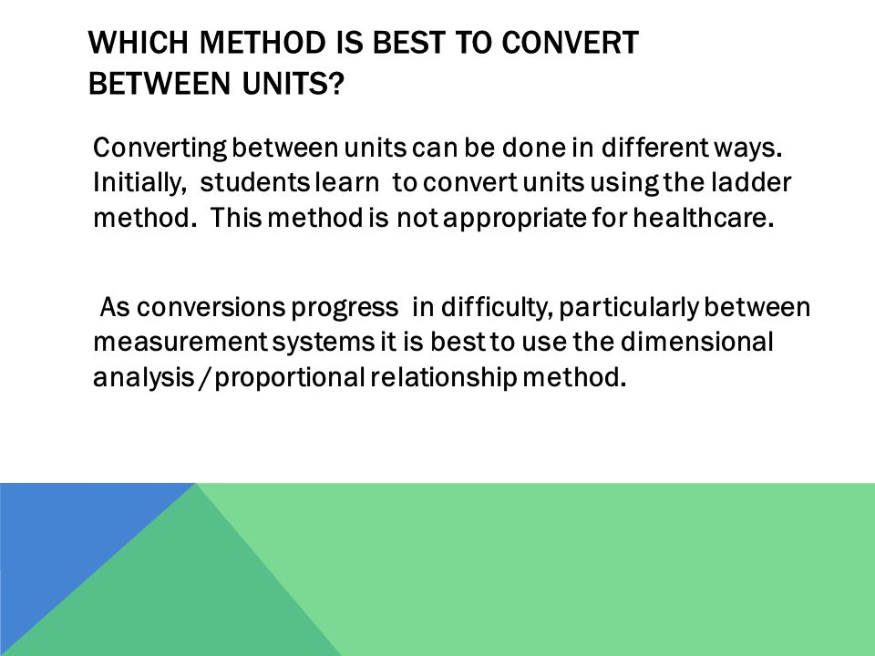 Which method is best to convert between units