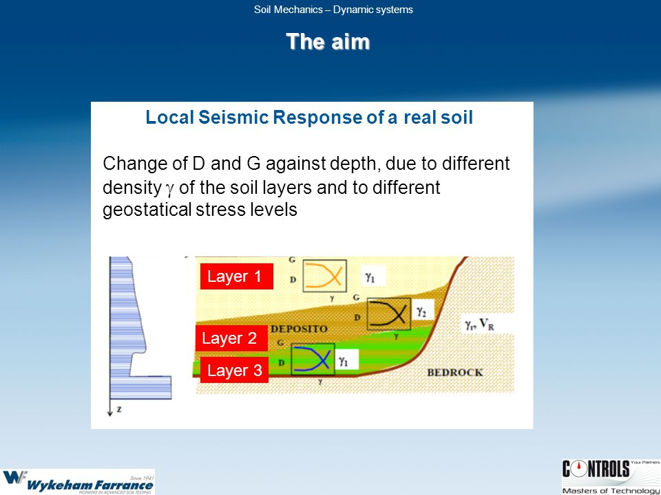 Local Seismic Response of a real soil