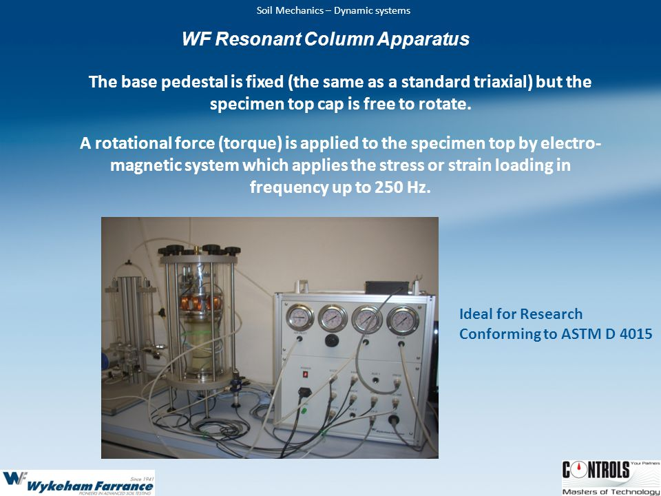 WF Resonant Column Apparatus