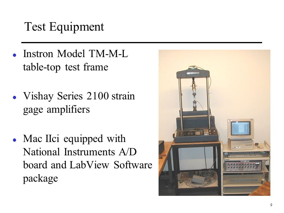 Test Equipment Instron Model TM-M-L table-top test frame