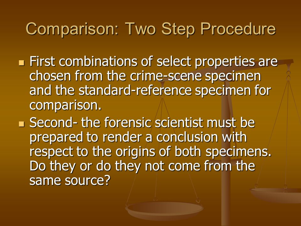 Comparison: Two Step Procedure