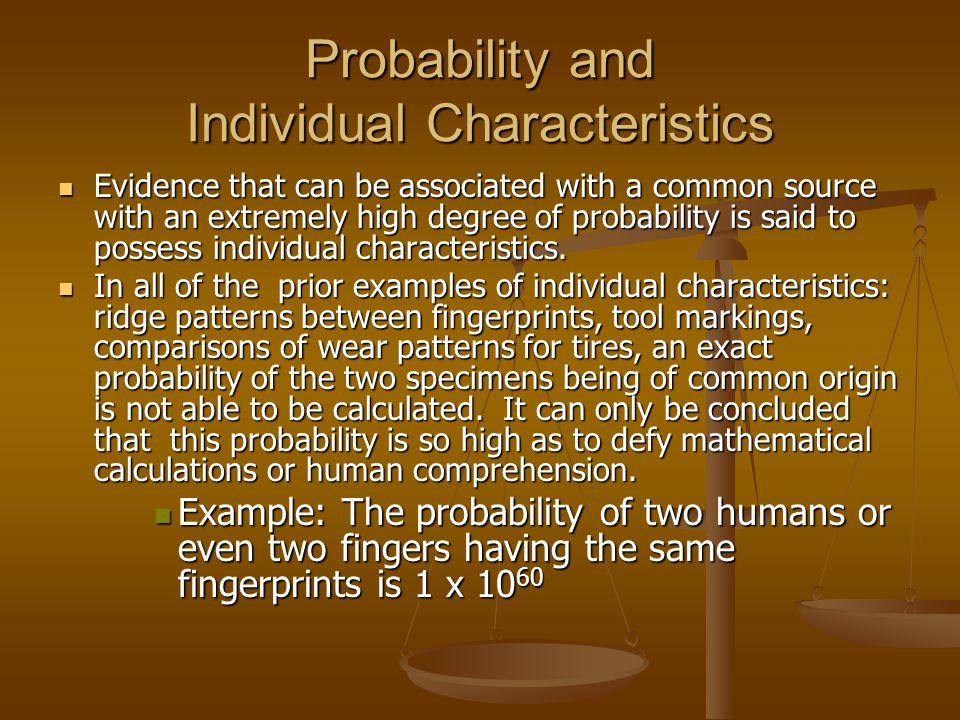 Probability and Individual Characteristics