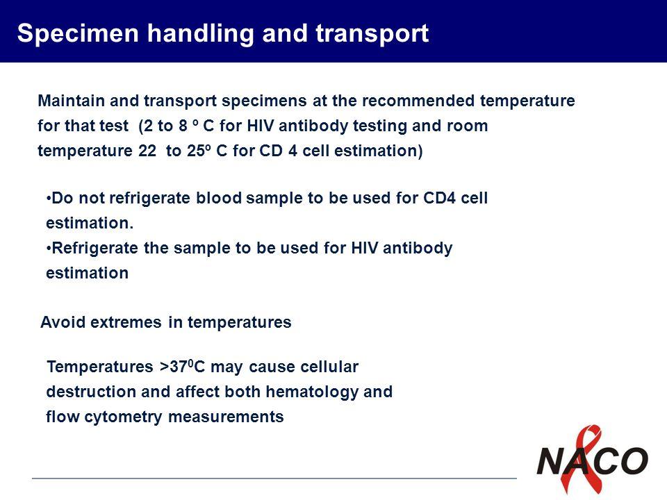 Specimen handling and transport