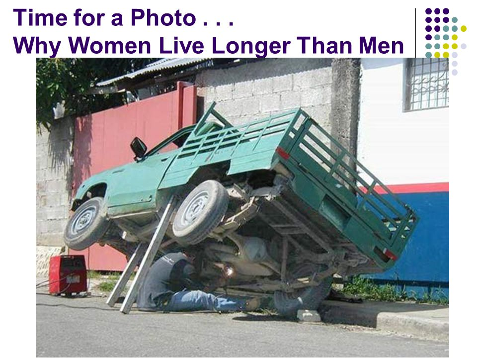 Time for a Photo . . . Why Women Live Longer Than Men