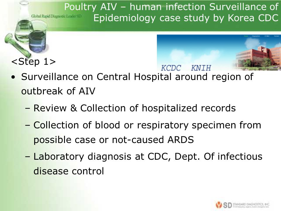 Poultry AIV – human infection Surveillance of Epidemiology case study by Korea CDC