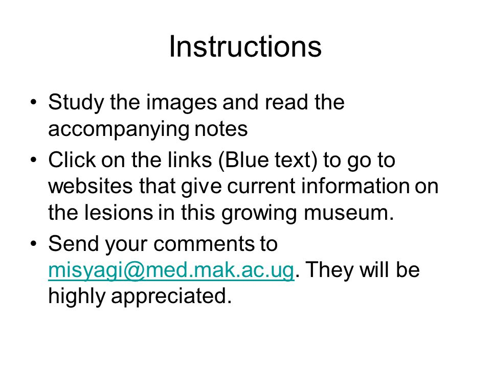 Instructions Study the images and read the accompanying notes