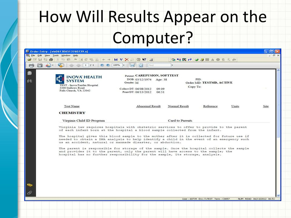 How Will Results Appear on the Computer