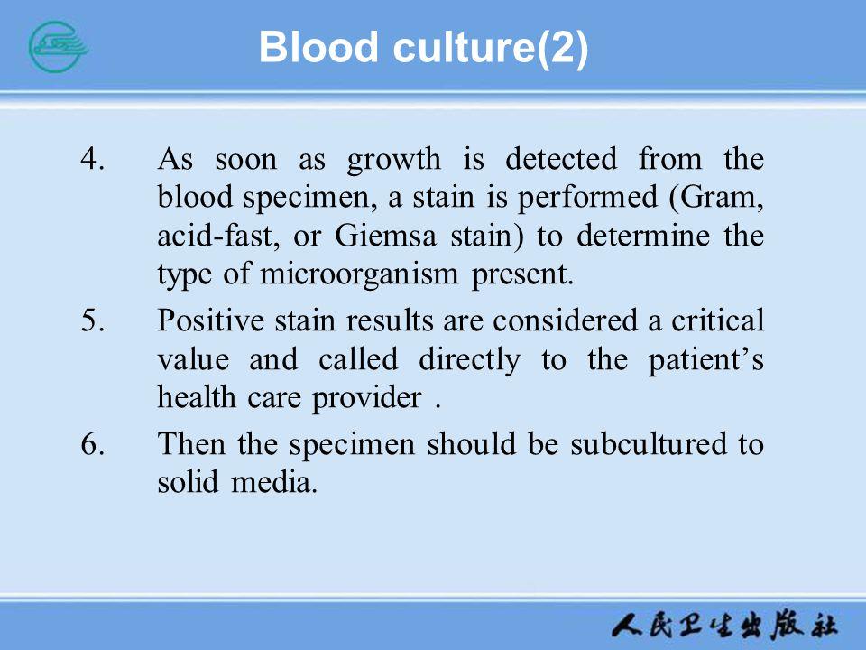 Blood culture(2)