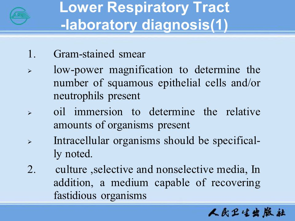 Lower Respiratory Tract -laboratory diagnosis(1)