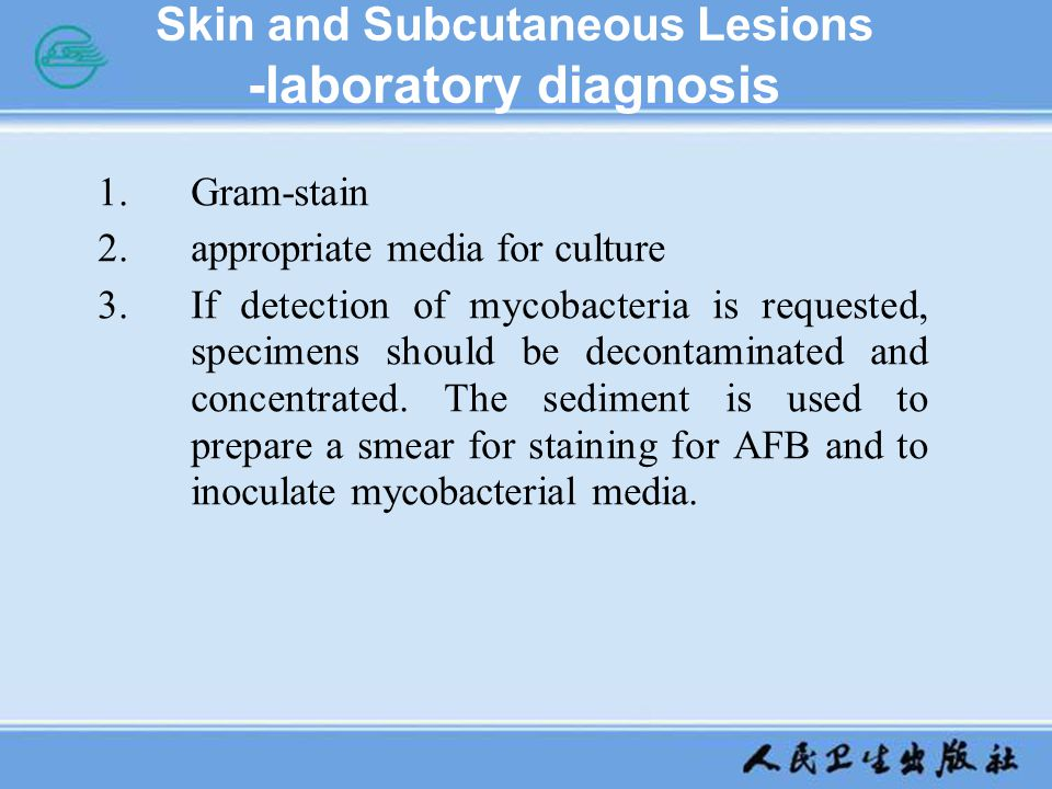 Skin and Subcutaneous Lesions -laboratory diagnosis