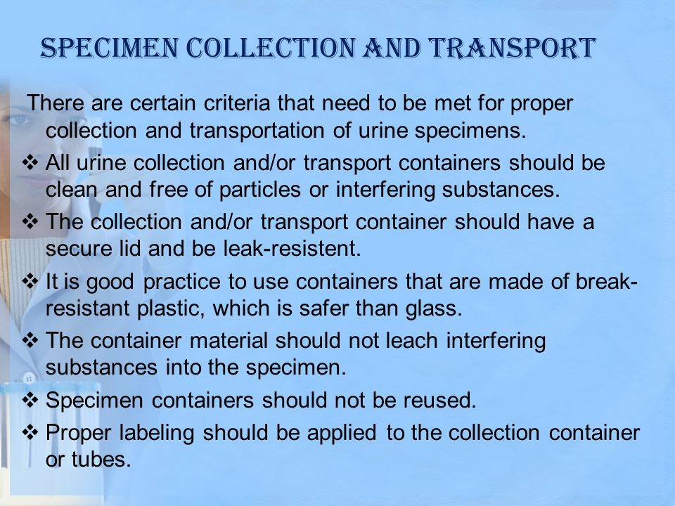Specimen Collection and Transport