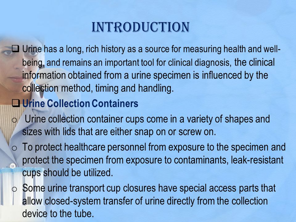 introduction Urine Collection Containers