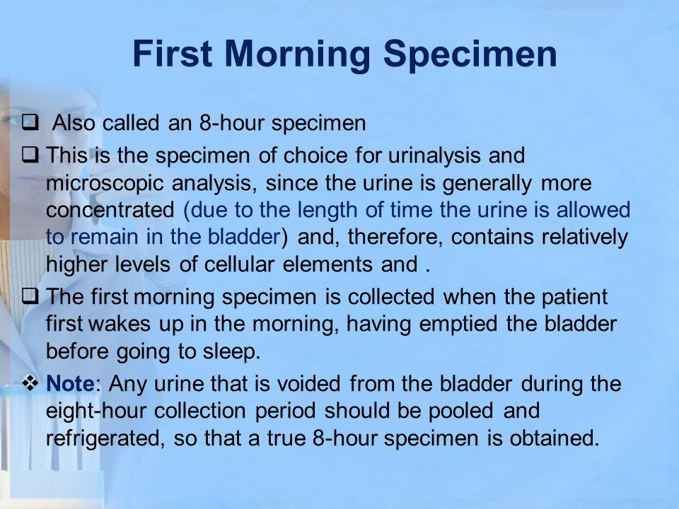 First Morning Specimen
