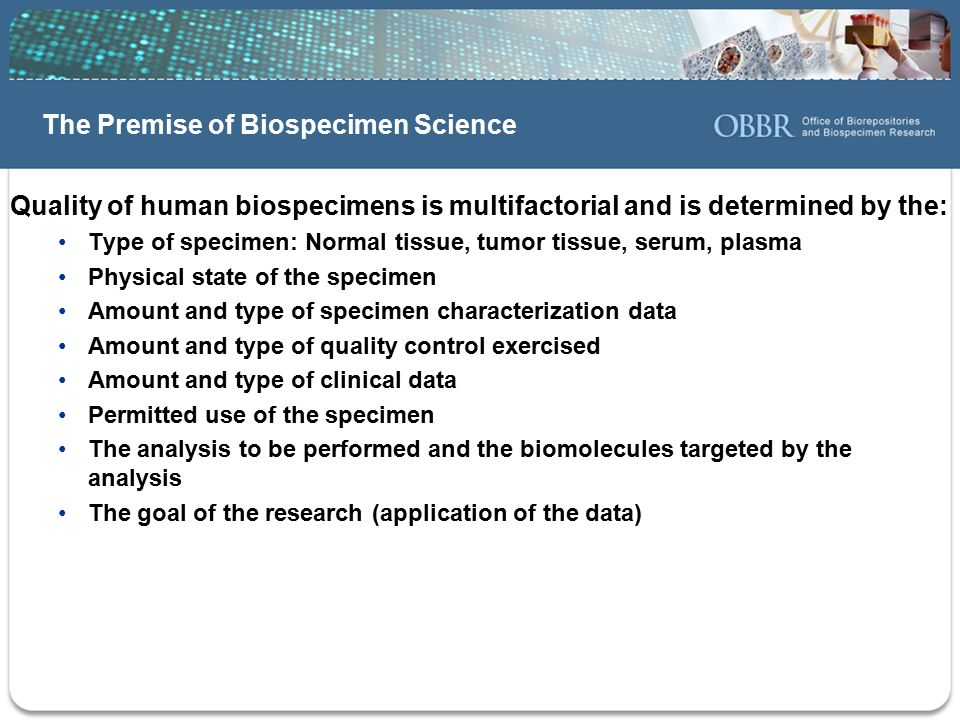 The Premise of Biospecimen Science