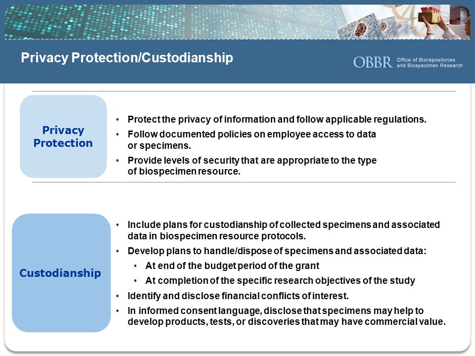 Privacy Protection/Custodianship