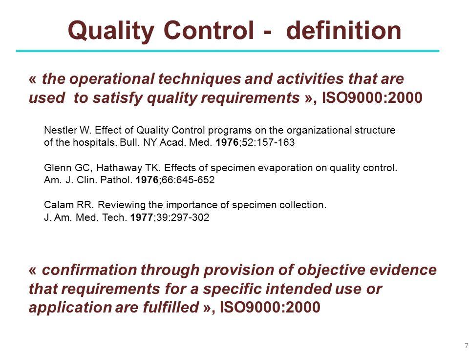 Quality Control - definition