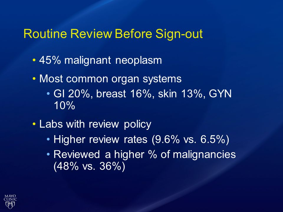 Routine Review Before Sign-out