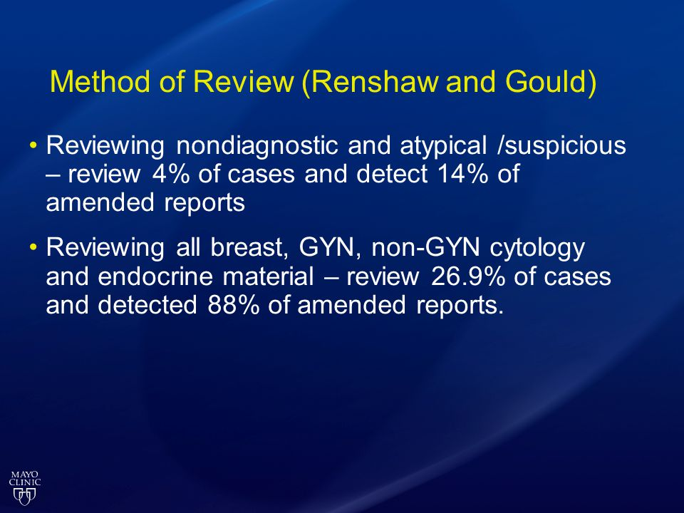 Method of Review (Renshaw and Gould)