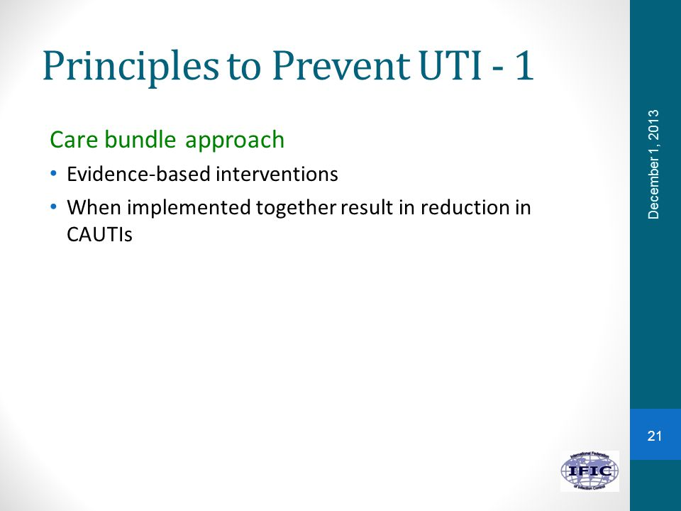Principles to Prevent UTI - 1