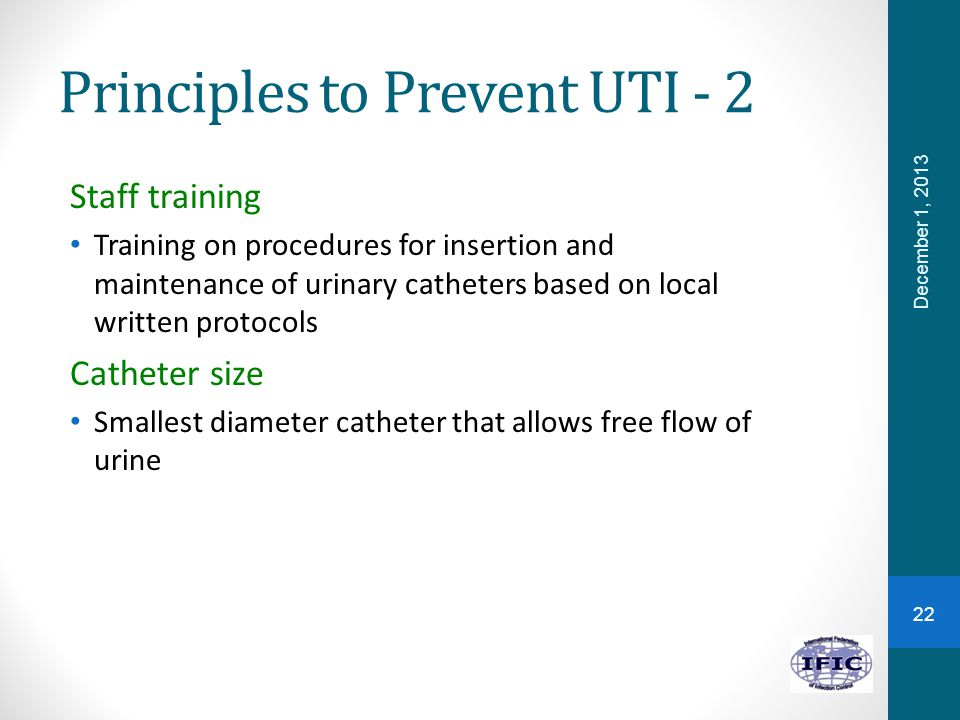 Principles to Prevent UTI - 2