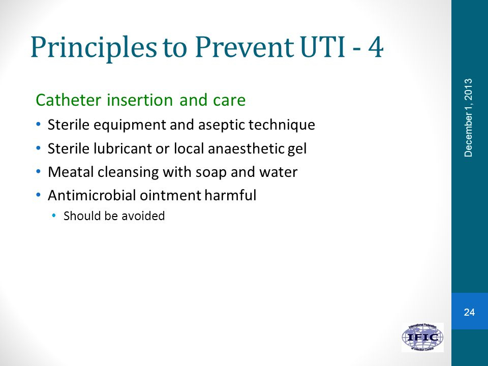 Principles to Prevent UTI - 4
