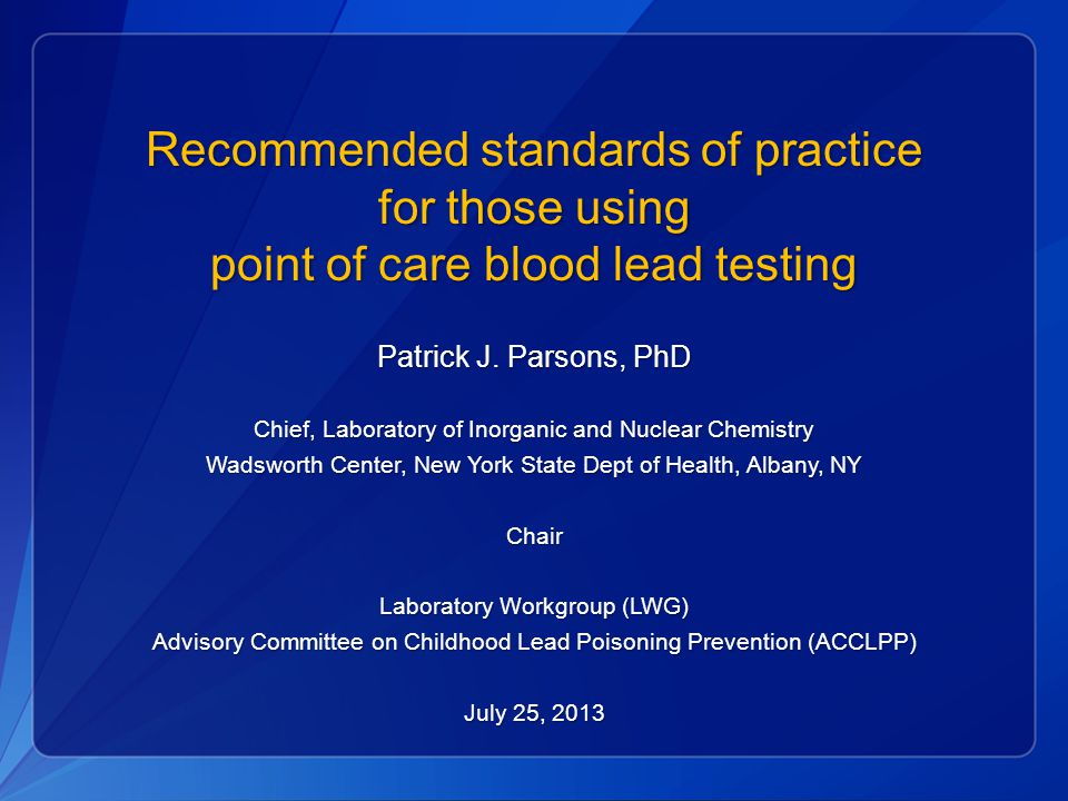 Recommended standards of practice for those using
