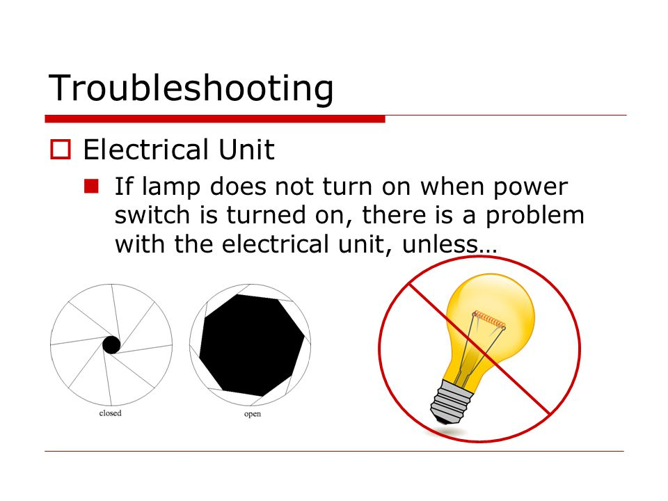 Troubleshooting Electrical Unit