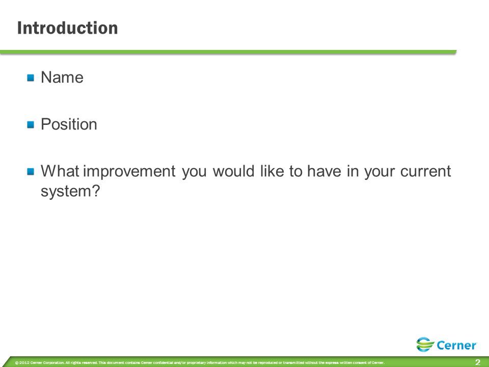 Objectives Review client specific Outcomes