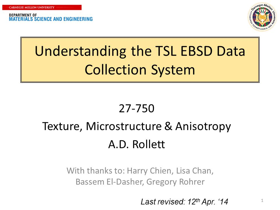 Understanding the TSL EBSD Data Collection System