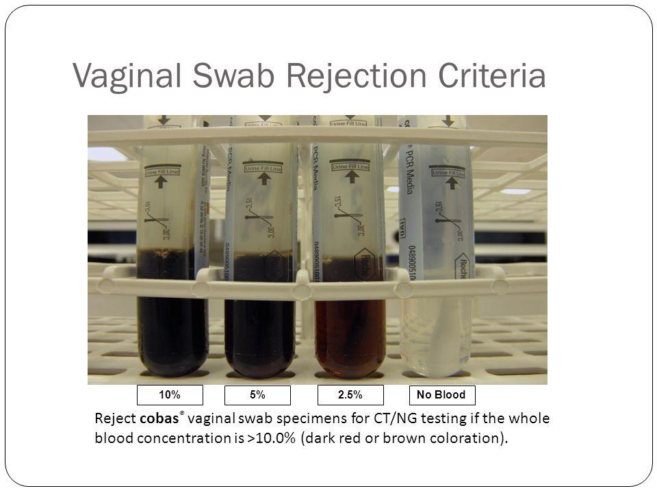 Vaginal Swab Rejection Criteria