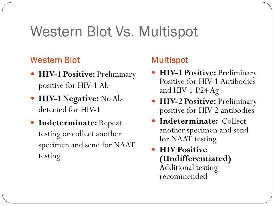 Western Blot Vs. Multispot