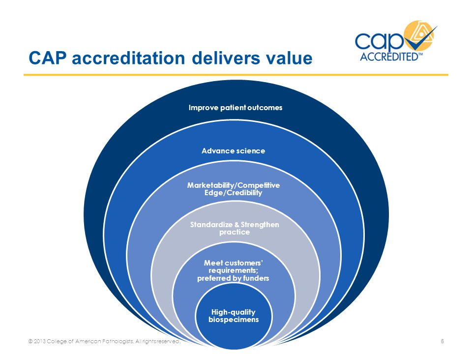 CAP accreditation delivers value