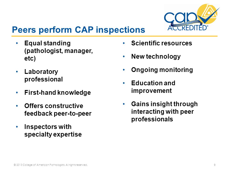 Peers perform CAP inspections