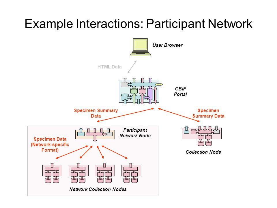 Example Interactions: Participant Network
