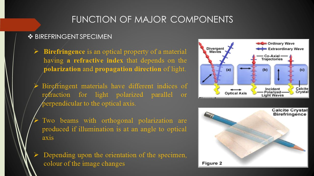 FUNCTION OF MAJOR COMPONENTS