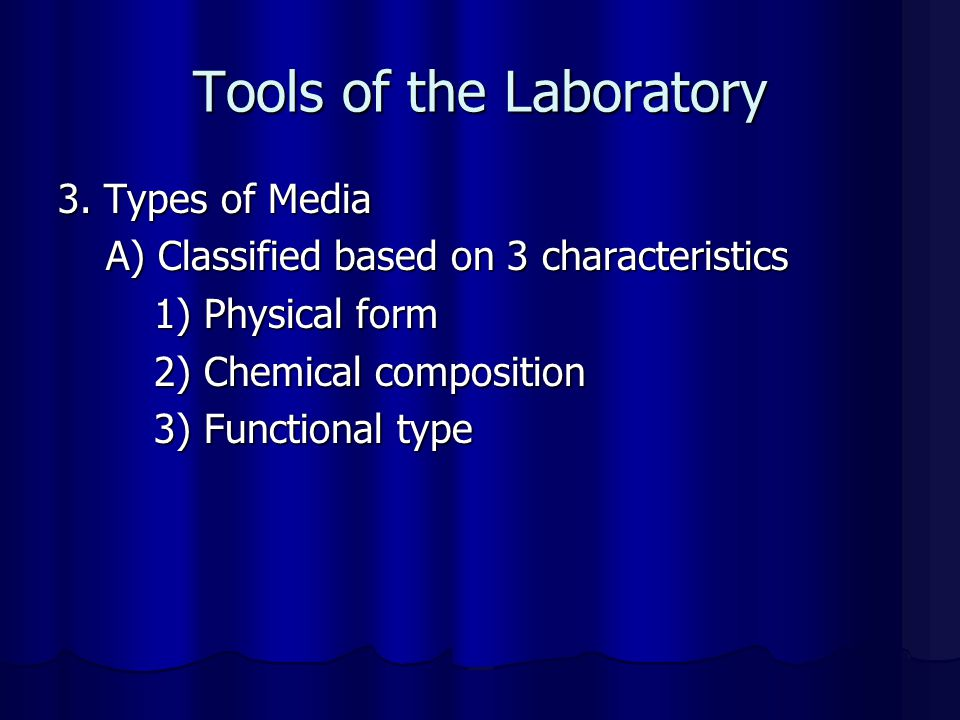 Tools of the Laboratory