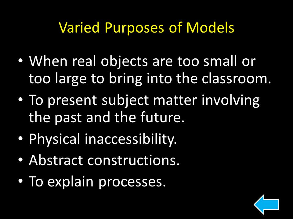 Varied Purposes of Models