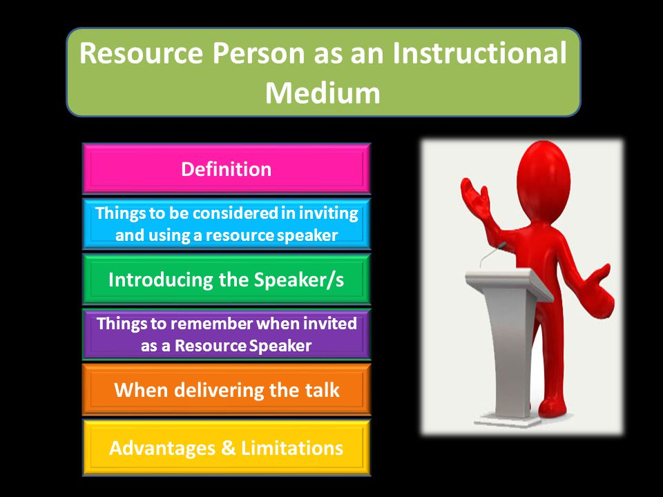 Resource Person as an Instructional Medium